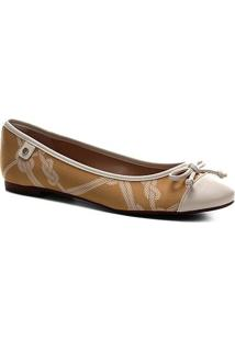 Sapatilha Shoestock Seda Laço Bico Redondo - Feminino-Amarelo