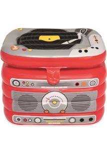 Cooler Inflável De 31 Litros Bestway Em Formato De Rádio Com Fechamento Superior E Estrutura Resistente Vermelho