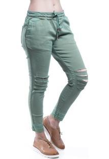 Calça Jeans Osmoze Jogg Skinny Jeans Verde Escuro - Feminino