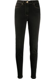 Versace Calça Jeans Skinny Cintura Alta - Preto