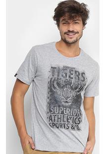 Camiseta All Free Estampa Tigre Masculina - Masculino