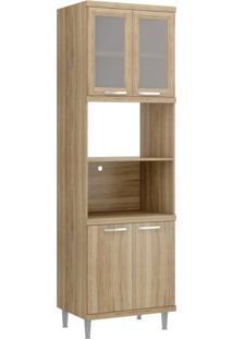 Paneleiro Para Forno Com Porta De Vidro 5120 Sicília Multimóveis Argila