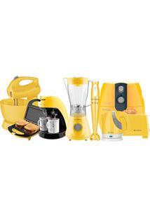 Kit Colors Amarelo Cozinha Completa Cadence - 220V