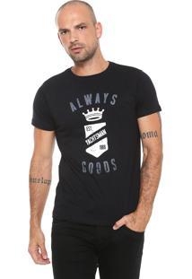 Camiseta Yachtsman Estampada Preta
