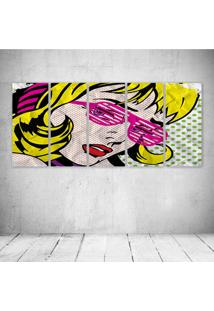 Quadro Decorativo - Woman Pop - Composto De 5 Quadros - Multicolorido - Dafiti