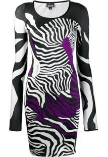 Just Cavalli Vestido Animal Print - Preto