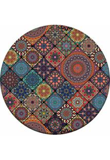 Tapete Love Decor Redondo Wevans Multi Mandalas Multicolorido 84Cm