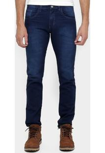 Calça Preston Slim Fit Lavada - Masculino-Jeans