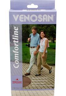 Meia Calça Venosan Confortline 20-30 Mmhg P (Tamanho Pequeno) Longo, Cor Bege, Ponteira Aberta