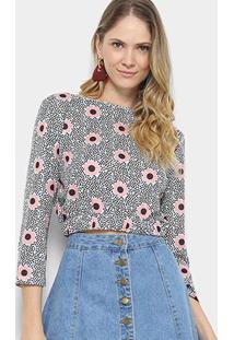 Blusa Cropped Estampada My Favorite Thing Feminino - Feminino-Estampado