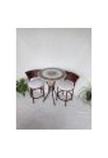 Conjunto De Mesa Com Cadeiras Mosaico Banco | Banqueta E Cinza