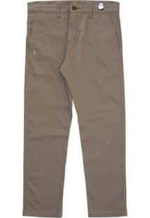 Calça Simple Skateboard Chino Bege