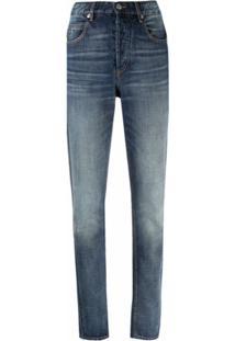 Isabel Marant Étoile High-Rise Slim-Fit Jeans - Azul