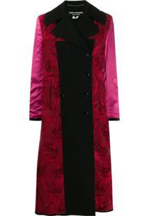 Junya Watanabe Mix Fabric Double-Breasted Coat - Preto