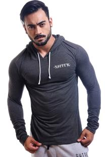 Blusa Fitted Shatark Zhtrk - Cinza Escuro
