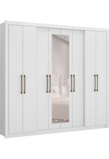 Guarda-Roupa Casal Hester Com Espelho 8 Pt 4 Gv Branco
