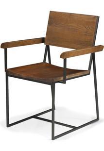 Cadeira York Com Braço Rustic Brown Base Grafite 83 Cm - 41602 - Sun House