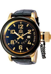 Relógio Invicta Analógico 012425 Masculino - Masculino-Dourado+Preto