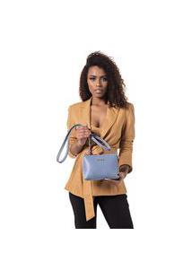 Bolsa Feminina Pequena Com Alça Transversal Azul Dhaffy
