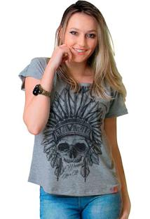 Camiseta Wevans Apache Skull Cinza