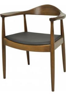 Cadeira Carolina Com Braco Cor Madeira Escura - 11489 - Sun House