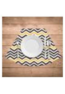 Jogo Americano Para Mesa Redonda Wevans Stripes Kit Com 4 Pçs