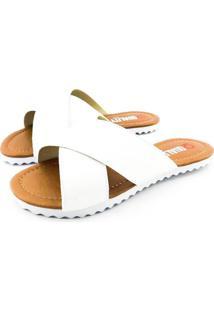 Rasteira Quality Shoes Feminina 008 Verniz Branco 34 34