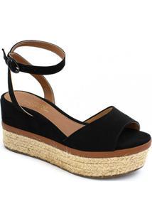 Sandália Anabela Corda Verão 2020 Sapato Show 1890502