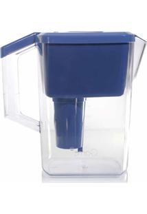 Jarra Purificadora Água Alcalina Com Filtro Cerâmica E Minerais Azul