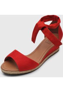Sandália Bebecê Amarração Vermelha