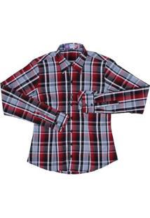 Camisa Manga Longa Feminina Xadrez Rodeo Western - Feminino-Preto