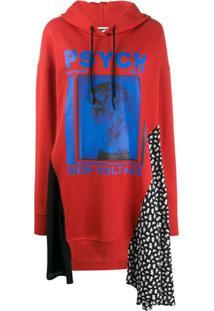 Mcq Alexander Mcqueen Vestido De Tricô Com Estampa Gráfica - Vermelho