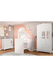 Dormitório Completo Bia -Carolina Baby - Branco