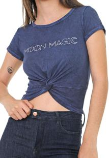 Blusa Oh, Boy! Moon Magic Azul-Marinho