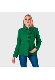 Casaco De L㣠Monacri Curto Verde - Azul/Preto/Verde/Vermelho - Feminino - L㣠- Dafiti