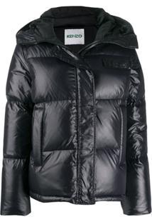 Kenzo Padded Logo Jacket - Preto