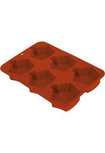 Assadeira Cupcake E Muffin Bolinho - Unissex-Vermelho