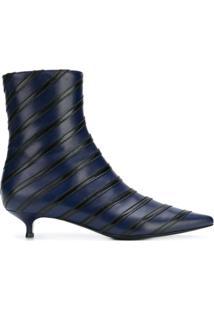 Sonia Rykiel Ankle Boot Listrada - Azul