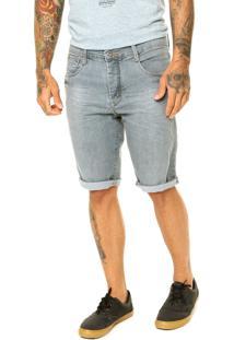 Bermuda Jeans Local Motion Skinny Keone Cinza