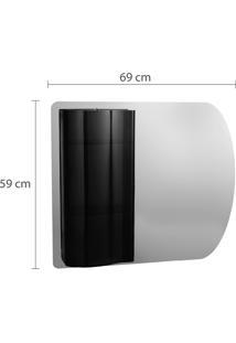 Espelheira Para Banheiro Topázio Astra 2 Prateleiras Fumê