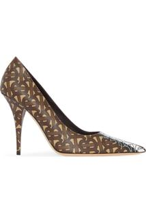 Burberry Sapato Monogramado - Marrom