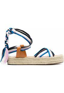 Isabel Marant Sandália Com Tiras Trançadas - Azul