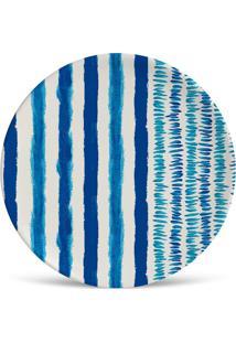 Prato De Sobremesa Brahma Azul E Branco 2,5X20X20 Cm