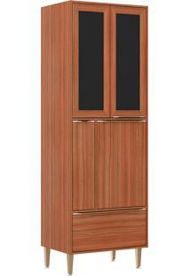 Paneleiro C/ Porta Tempero Com Moldura De Vidro 5406 – Multimóveis. - Nogueira