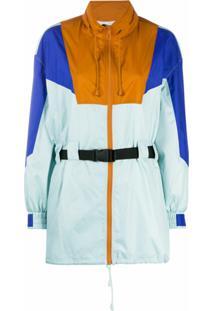 Sjyp Colour-Block Belted Jacket - Azul