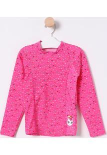 Camiseta Confetes Com Recorte- Rosa & Branca- Puketpuket