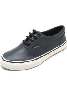 Tênis Couro Redley Leather Azul-Marinho