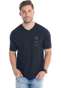 Camiseta Raglan Com Bordado Preto Bgo