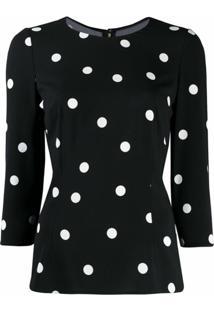 Dolce & Gabbana Blusa Com Poás - Preto