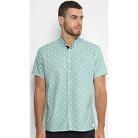 86a153f4f Camisa Slim Manga Curta Colcci Estampada Masculina - Masculino